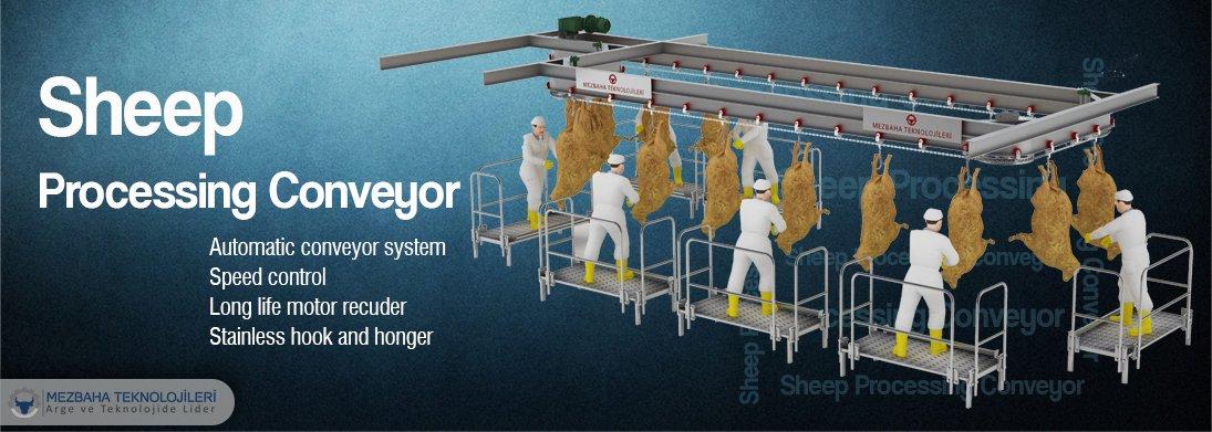 sheep processing conveyor