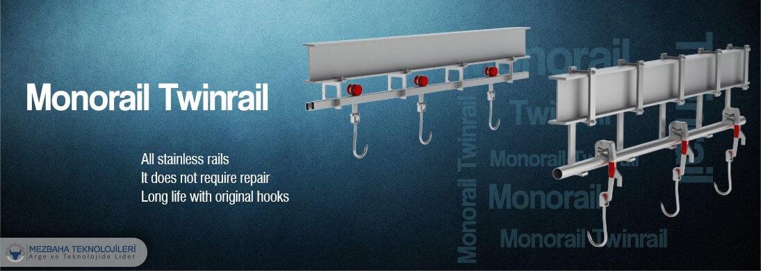 slaughterhouse equipment monorail twinrail