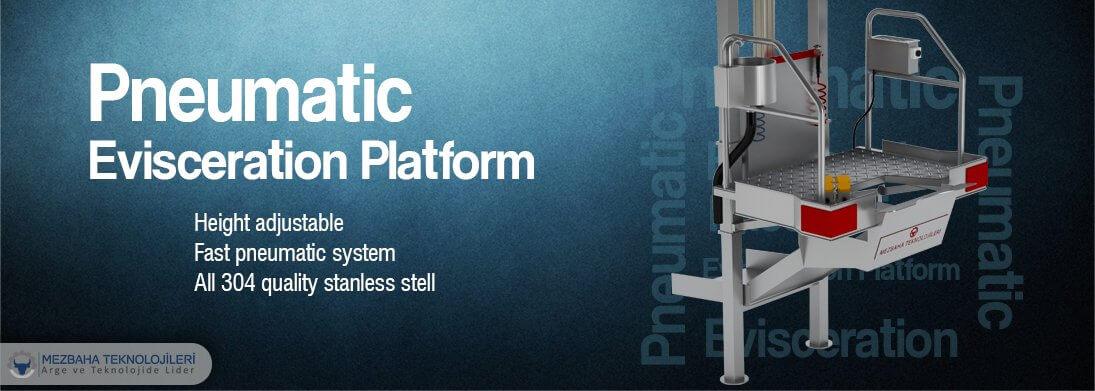 pneumatic evisceration platform