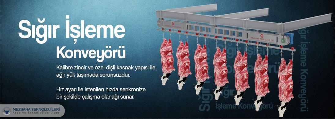 sığır işleme konveyörü